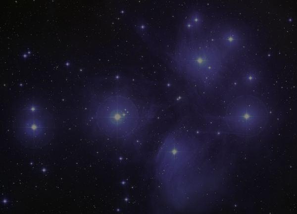 M45, Pleiades star cluster