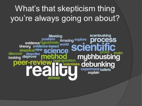 Skepticism Word Cloud