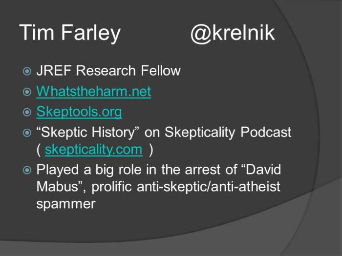 Tim Farley - Uber Skeptic
